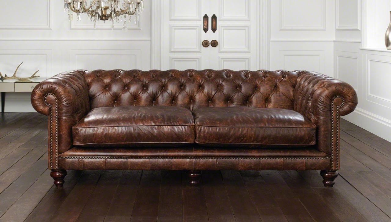 Well Known Leather Chesterfield Sofas In Cool Leather Chesterfield Sofa — Fabrizio Design : Leather (View 15 of 15)