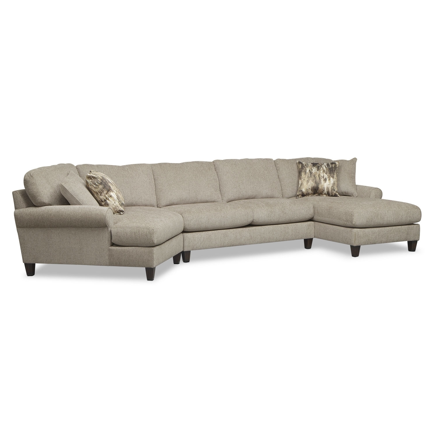 Well Known Living Room Furniture – Karma Mink 3 Pc (View 12 of 15)