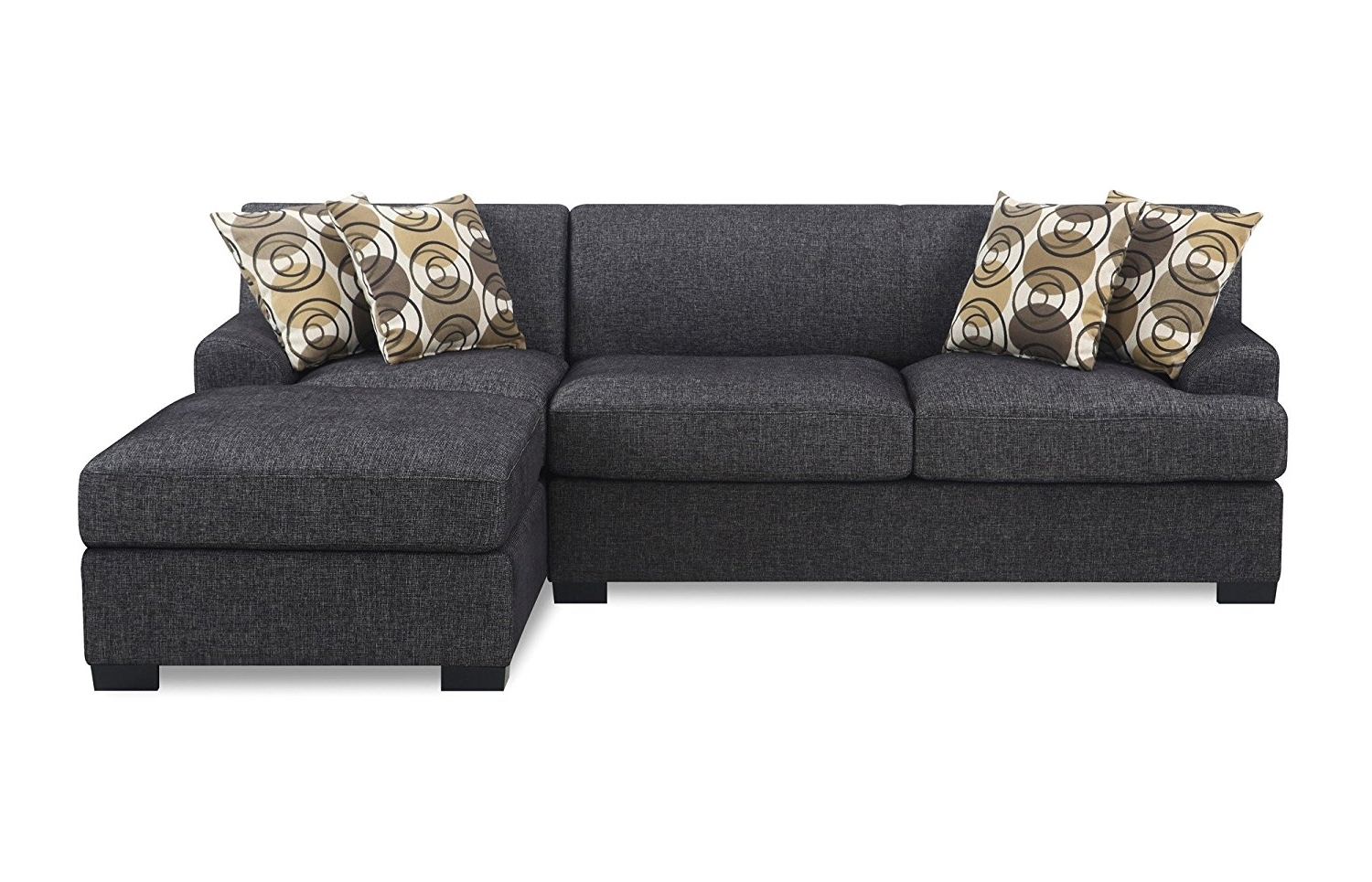 Well Known Loveseat Chaises In Amazon: Bobkona Benford 2 Piece Chaise Loveseat Sectional Sofa (View 7 of 15)