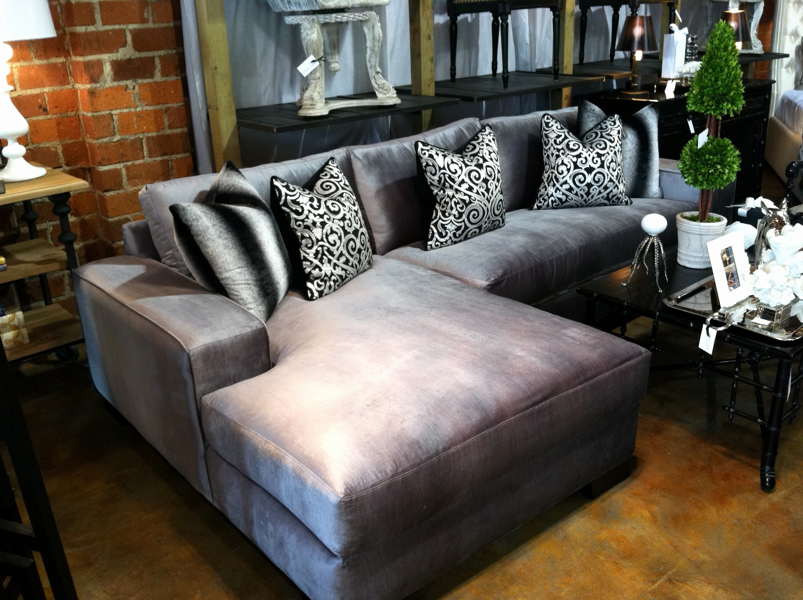 Well Known Luxury Velvet Sectional Sofa Images – Home Design Throughout Velvet Sectional Sofas With Chaise (View 11 of 15)