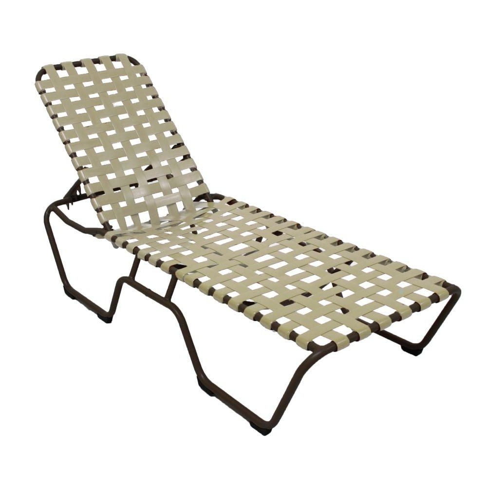 Well Known Marco Island White Commercial Grade Aluminum Vinyl Strap Outdoor Regarding Vinyl Chaise Lounge Chairs (View 14 of 15)