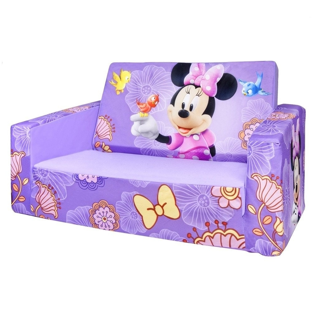 Well Known Mickey Mouse Marshmallow Couch Disney Princess Kids Flip Out Within Flip Out Sofas (View 14 of 15)