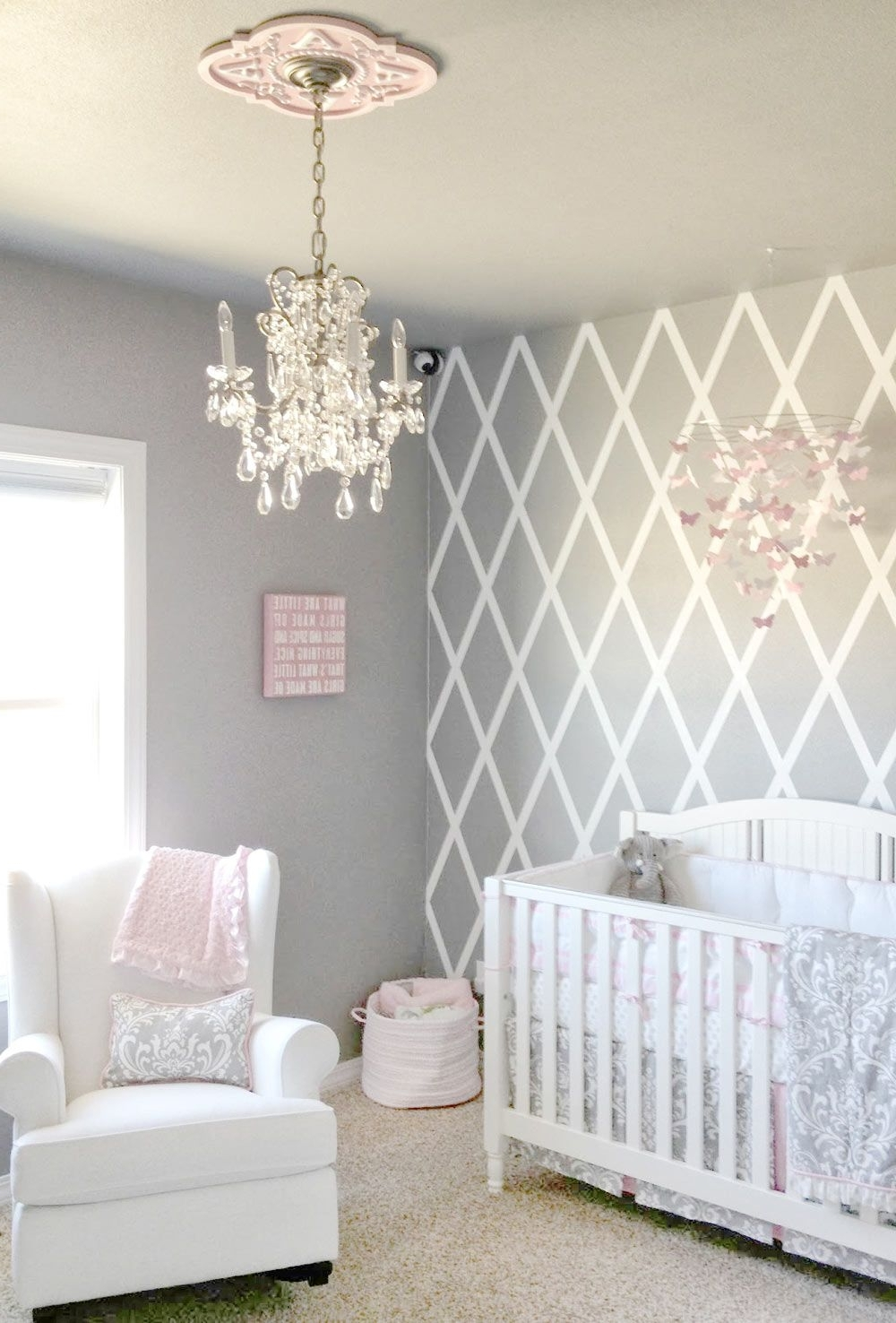 Well Known Pink And Gray Crib Bedding Sets (View 2 of 15)