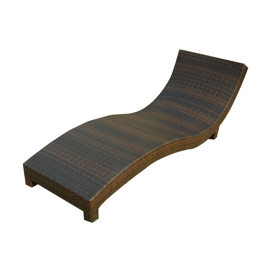 Well Known Plastic Chaise Lounges Inside Shop Best Selling Home Decor Cabo Multi Brown Plastic Patio Chaise (View 12 of 15)