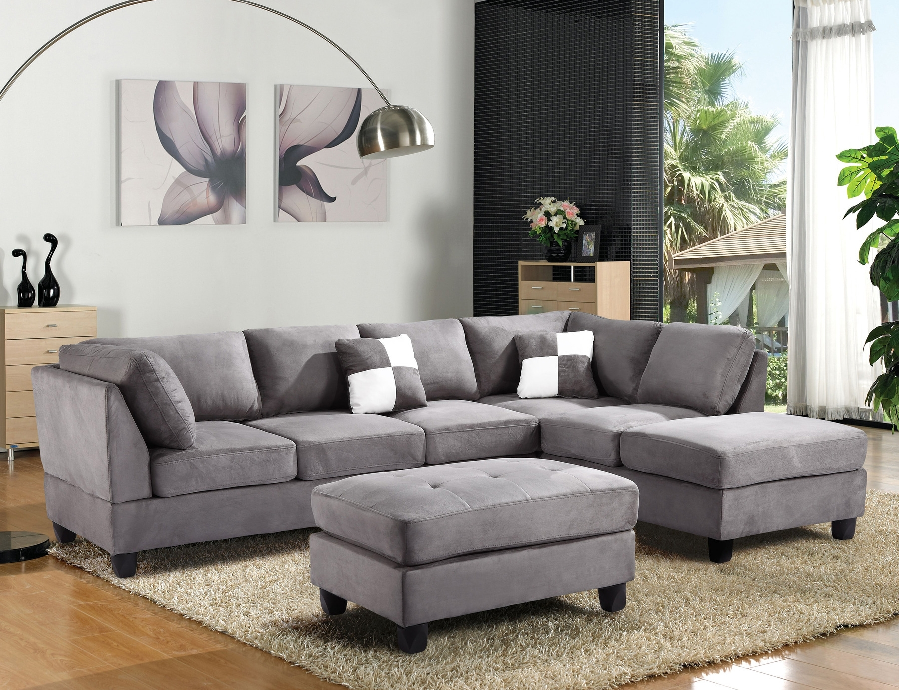 Well Known Quebec Sectional Sofas Throughout Off Agata Light Grey Sectional Sofas Gray Sofa Modern Fabric (View 14 of 15)