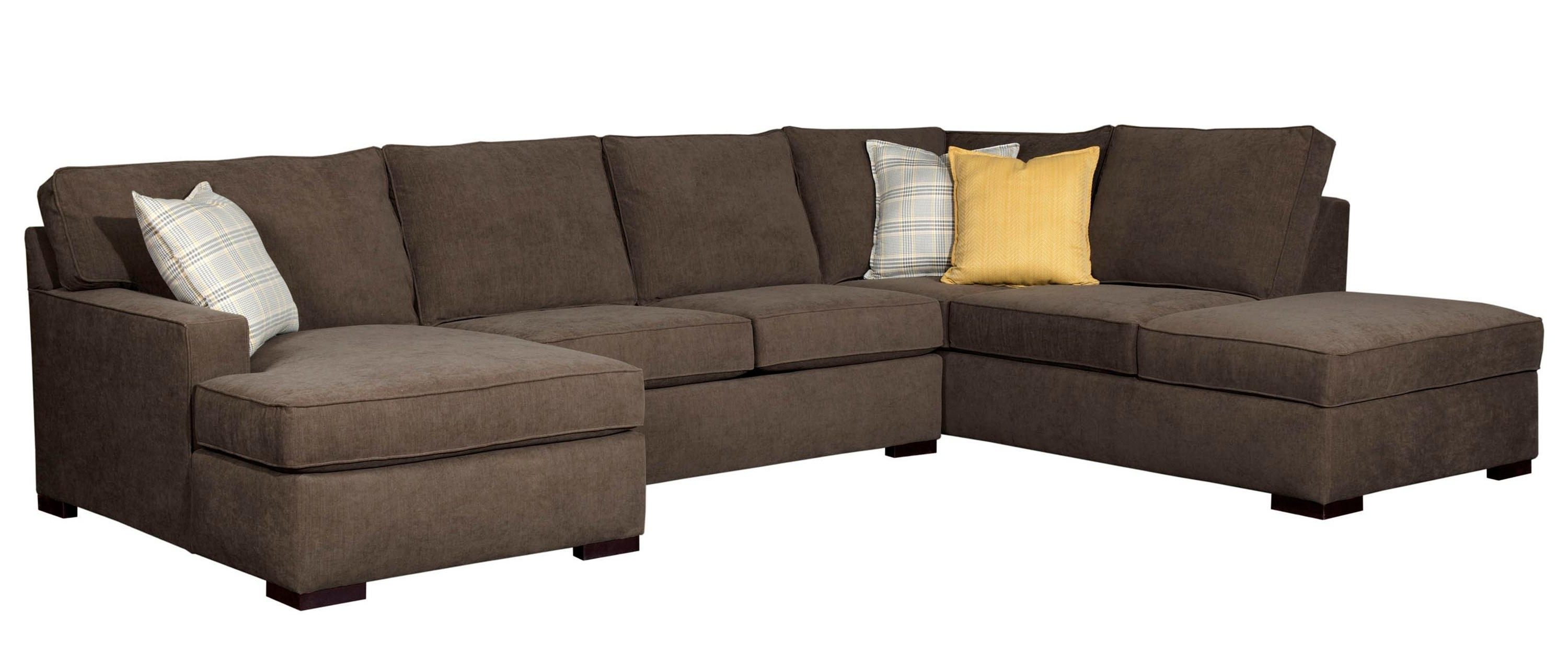 Well Known Raphael Contemporary Sectional Sofa With Raf Corner Storage Chaise With Regard To Broyhill Sectional Sofas (View 2 of 15)