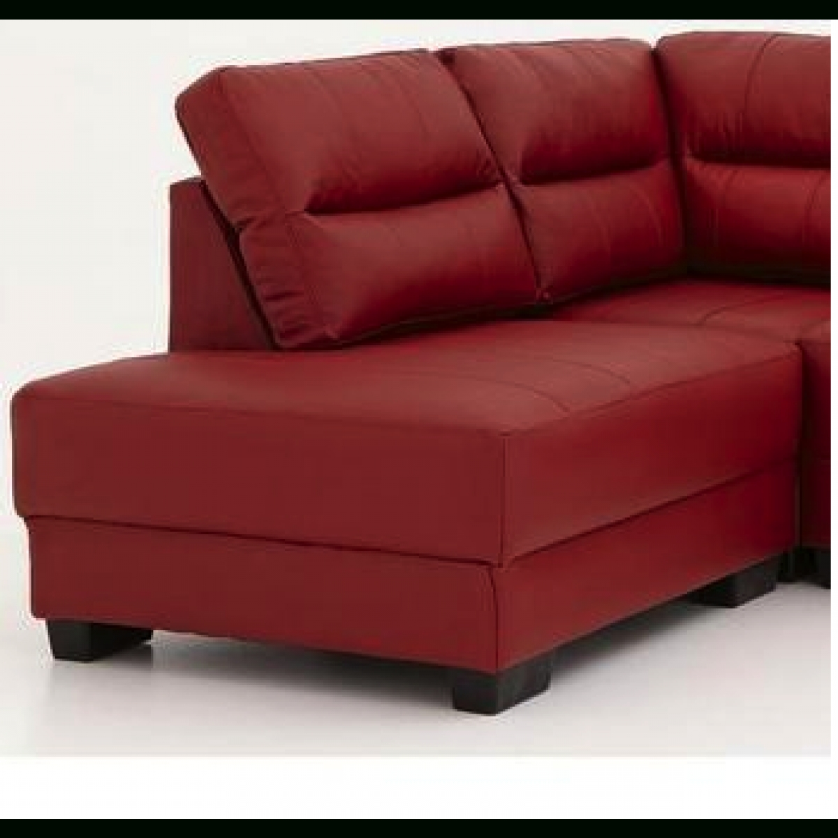 Well Known Red Leather Chaises Inside Saskia Left Hand Corner Chaise Sofa Red – Furnico Village (View 8 of 15)