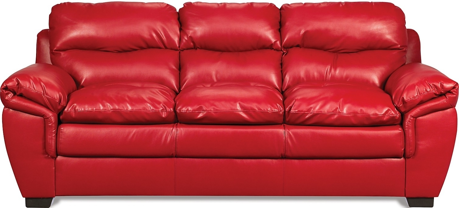 Well Known Red Leather Sofa Entrancing Inspiration Red Leather Sofas For Sale Inside The Brick Leather Sofas (View 15 of 15)