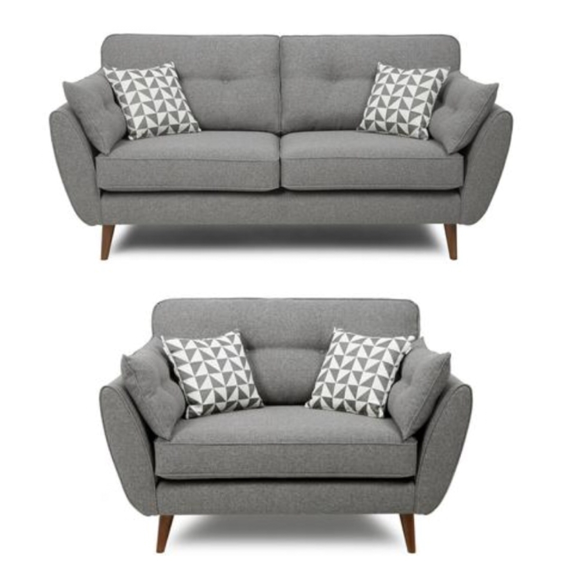 Well Known Retro Sofas And Chairs For French Connection Grey Sofa And Cuddle Chair … (View 5 of 15)