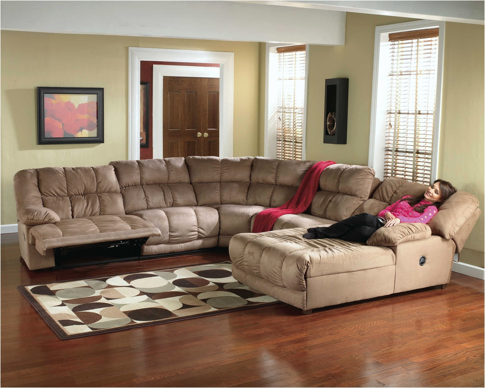 Well Known Sectional Couches With Recliner And Chaise Regarding Sofa ~ Awesome Microfiber Reclining Sectional Costco Reclining (View 14 of 15)