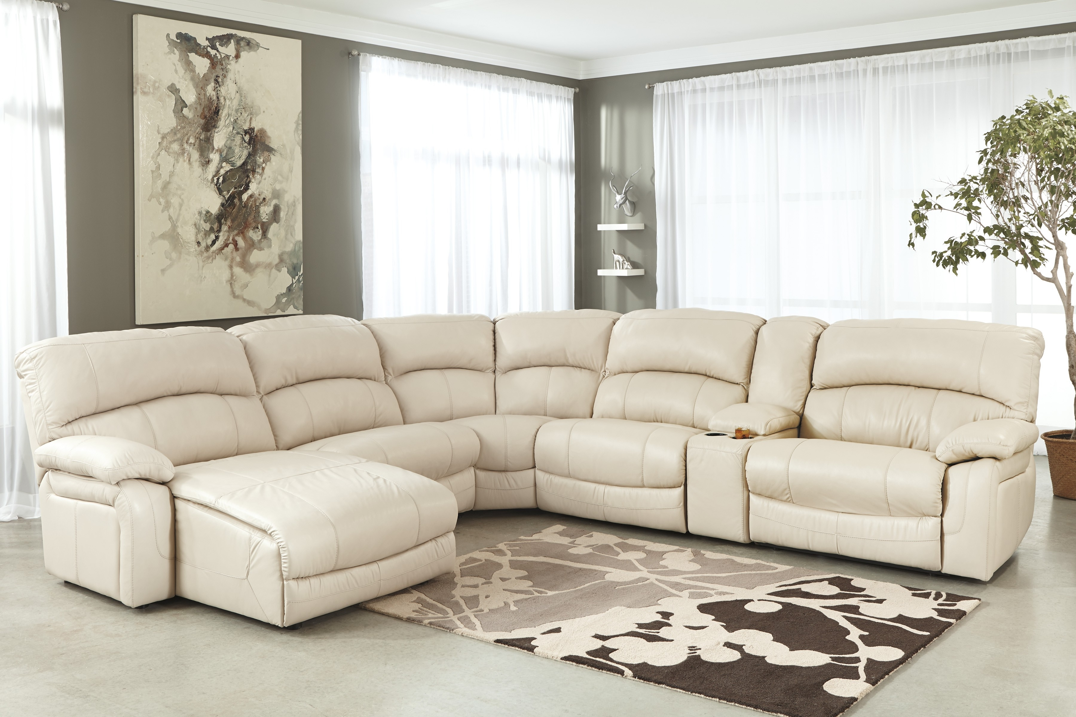 Well Known Sectional Sofa Design: Most Inspired White Leather Sectional Sofa Inside Cream Chaise Sofas (View 15 of 15)