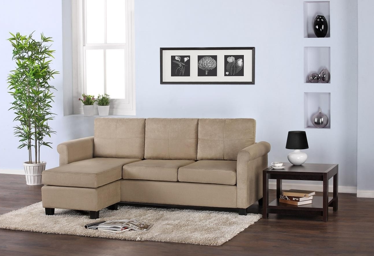 Well Known Sectional Sofas For Small Living Rooms With Simple Biege Color Scheme L Shaped Fabric Sofa Design For Small (View 10 of 15)