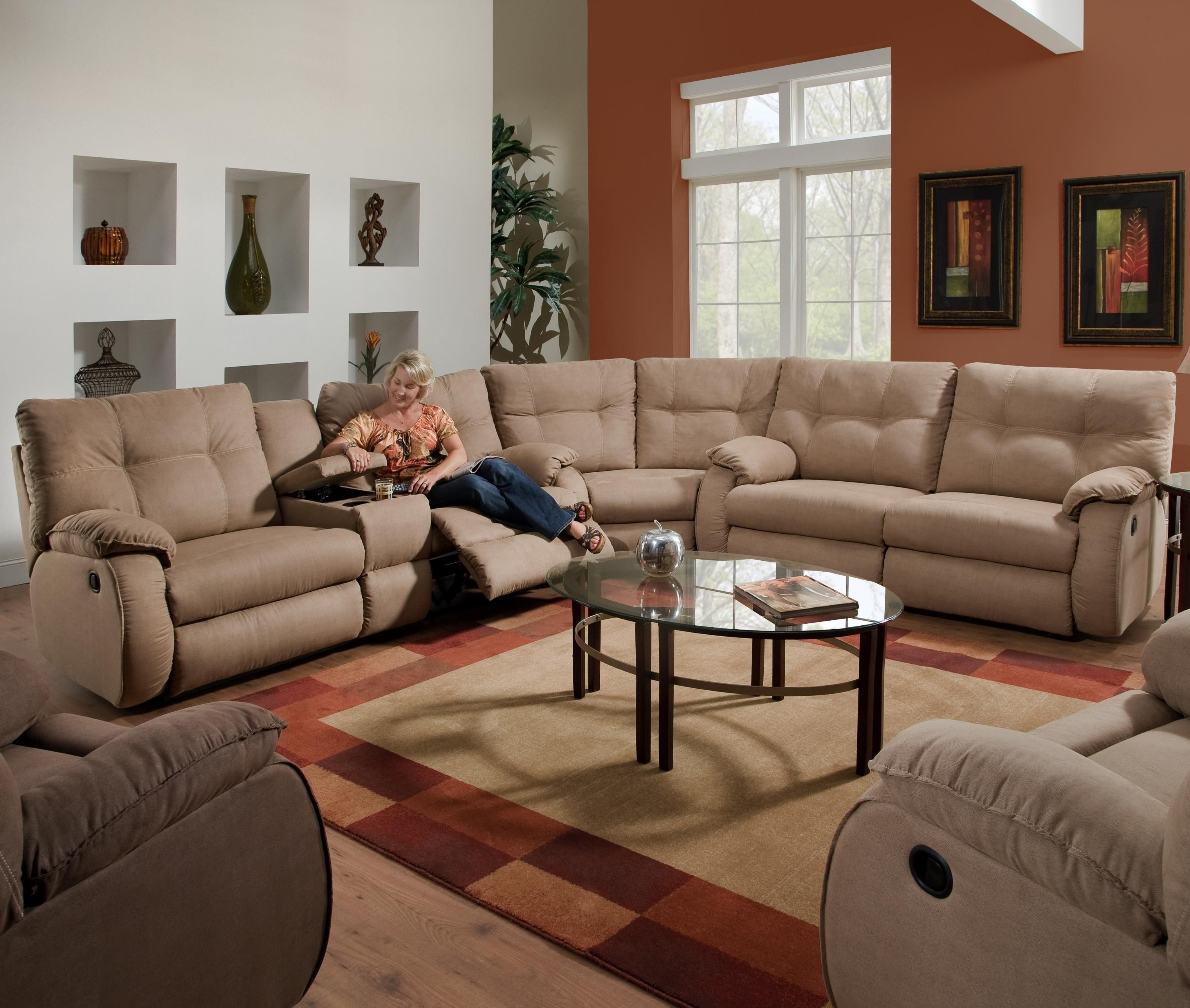 Well Known Sectional Sofas With Consoles With Dodger Reclining Sectional Sofasouthern Motion (View 9 of 15)
