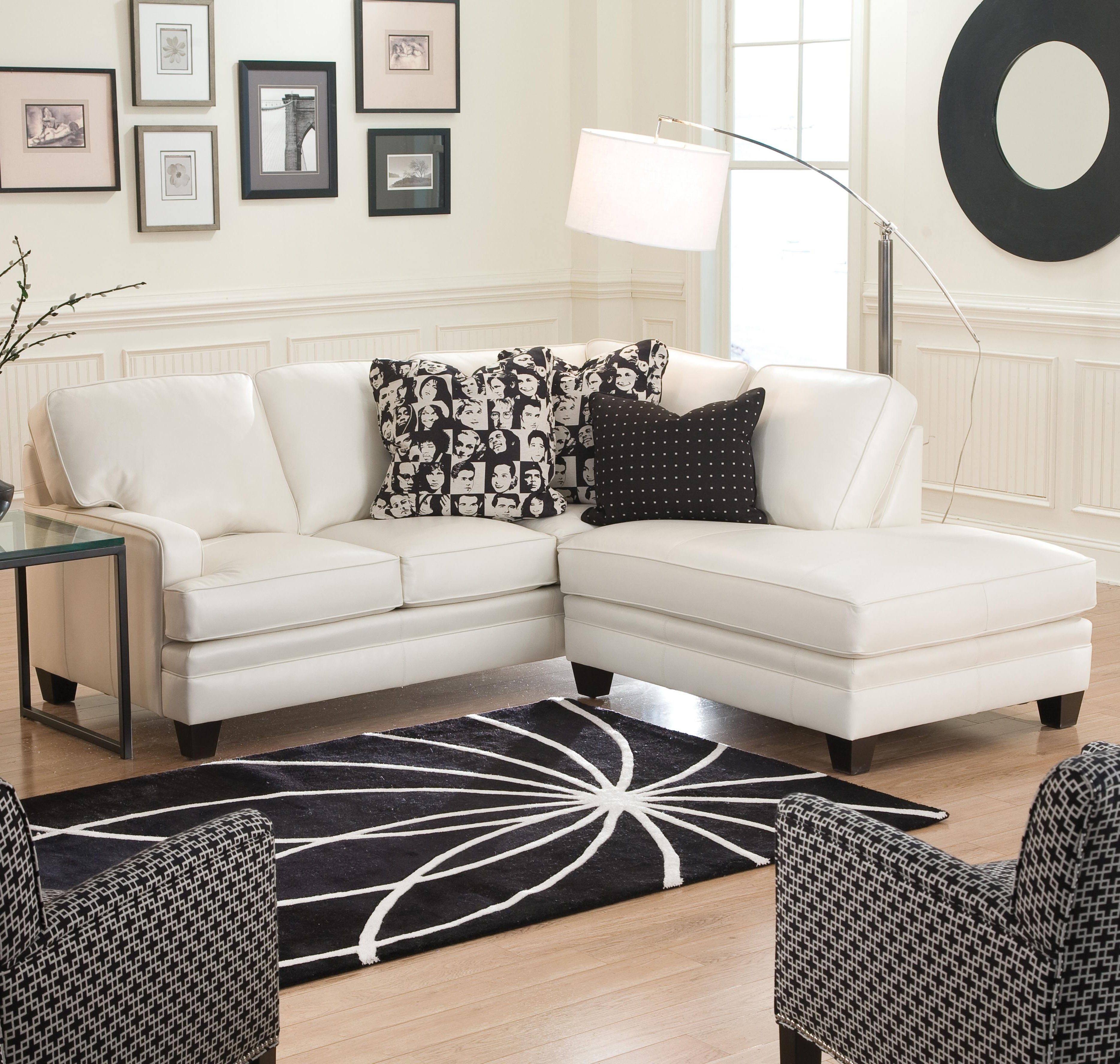 Well Known Small Sectional Sofas Regarding Small Sectional Sofa With Contemporary Looksmith Brothers (View 9 of 15)