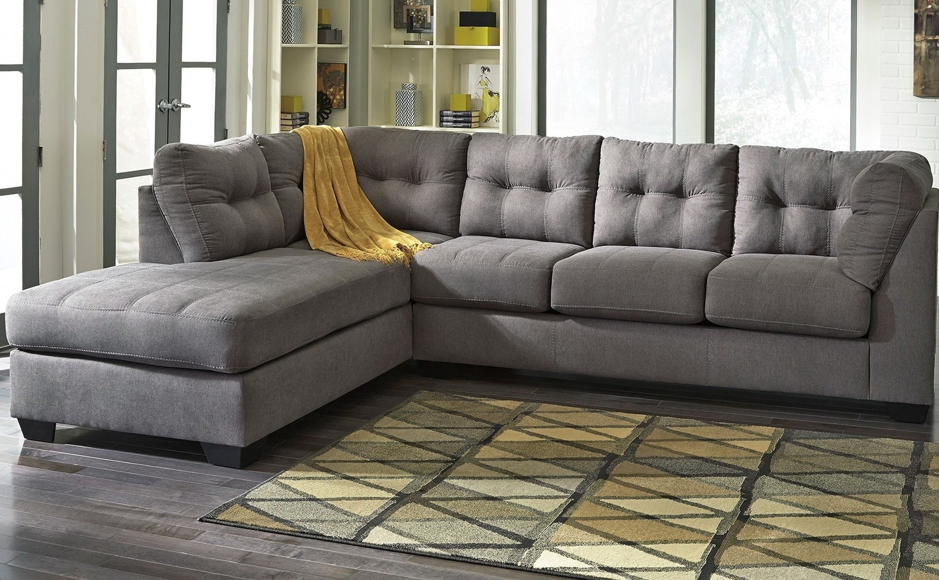 Well Known Sofa ~ Awesome Grey Corduroy Couch Sectional Sofas With Chaise Intended For Chaise Lounge Sectionals (View 6 of 15)