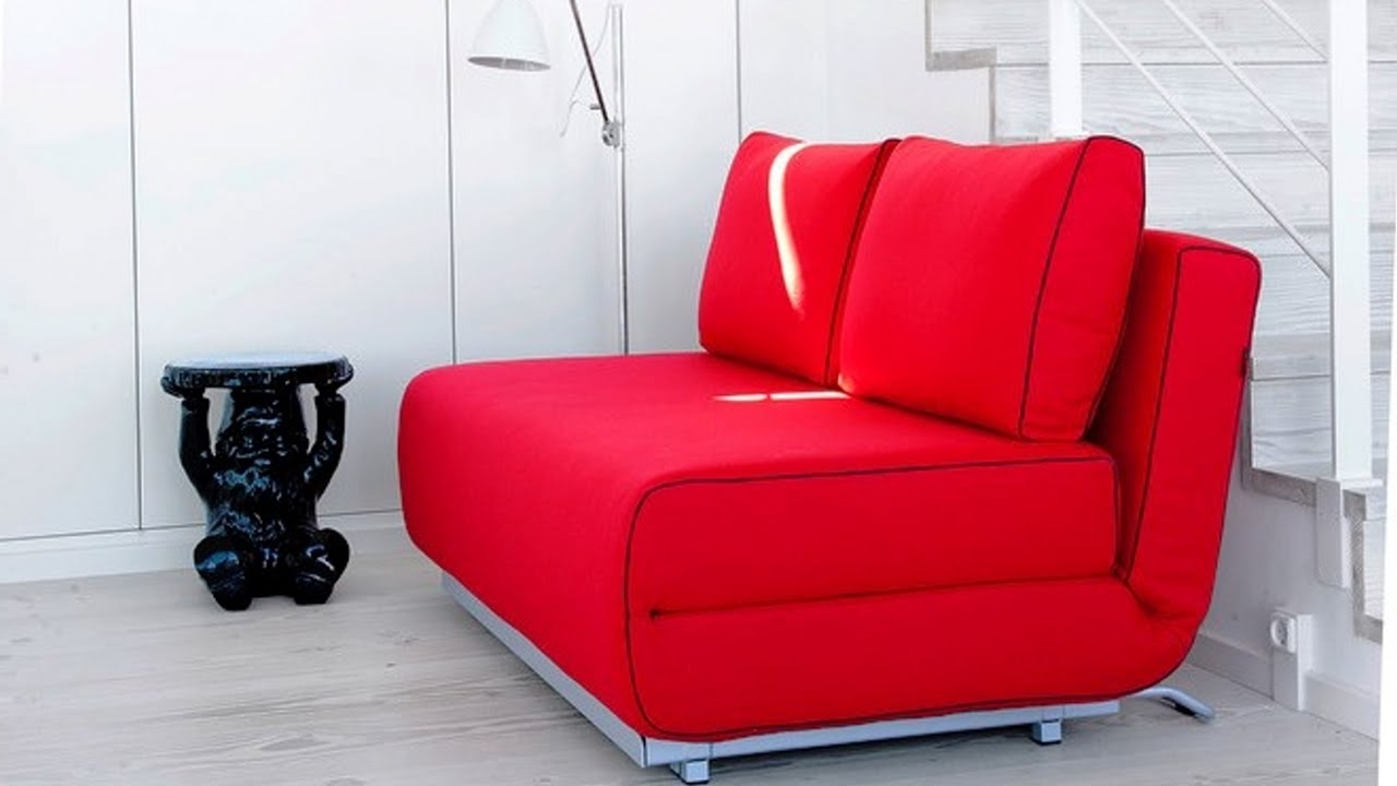 Well Known Sofa Bed, A Smart Solution For Small Spaces – Youtube Within Tiny Sofas (View 14 of 15)