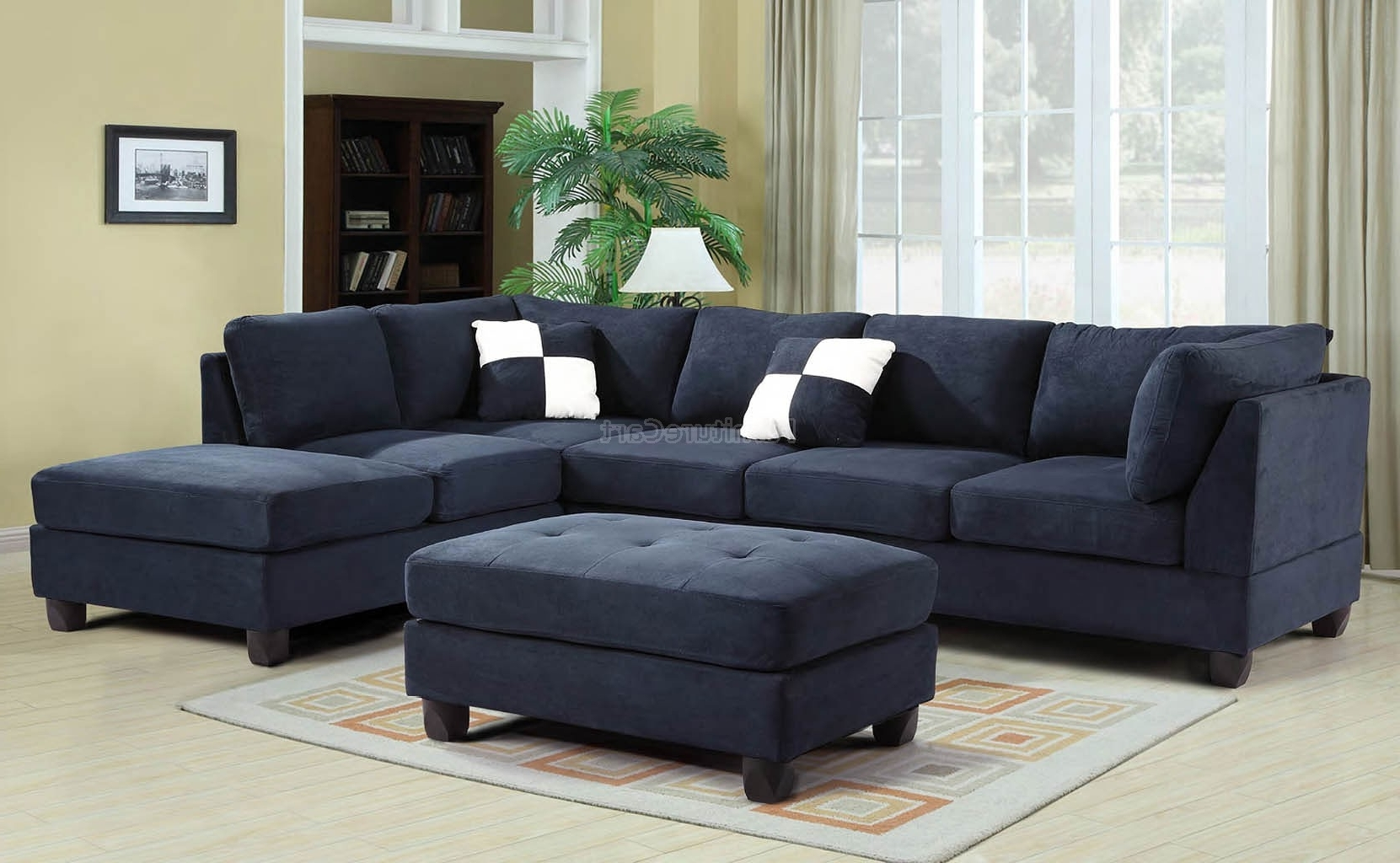 Well Known Sofa : Blue Sectional Sofa Microfiber Blue Sectional Sofas Royal Pertaining To Blue Sectional Sofas (View 15 of 15)