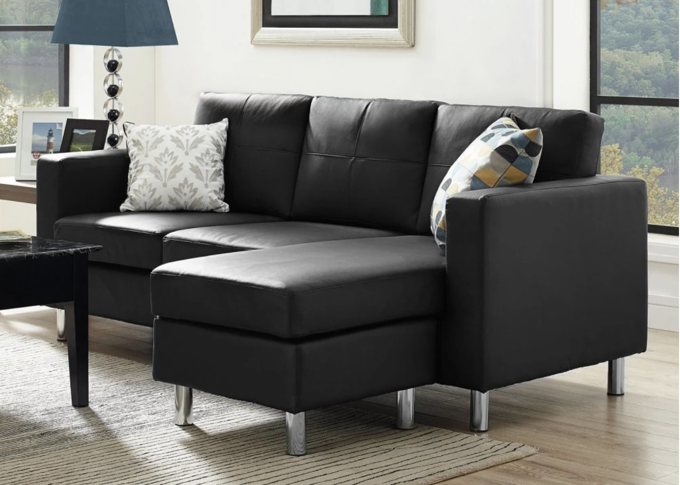 Well Known Sofas With High Backs Pertaining To 75 Modern Sectional Sofas For Small Spaces (2018) (View 12 of 15)