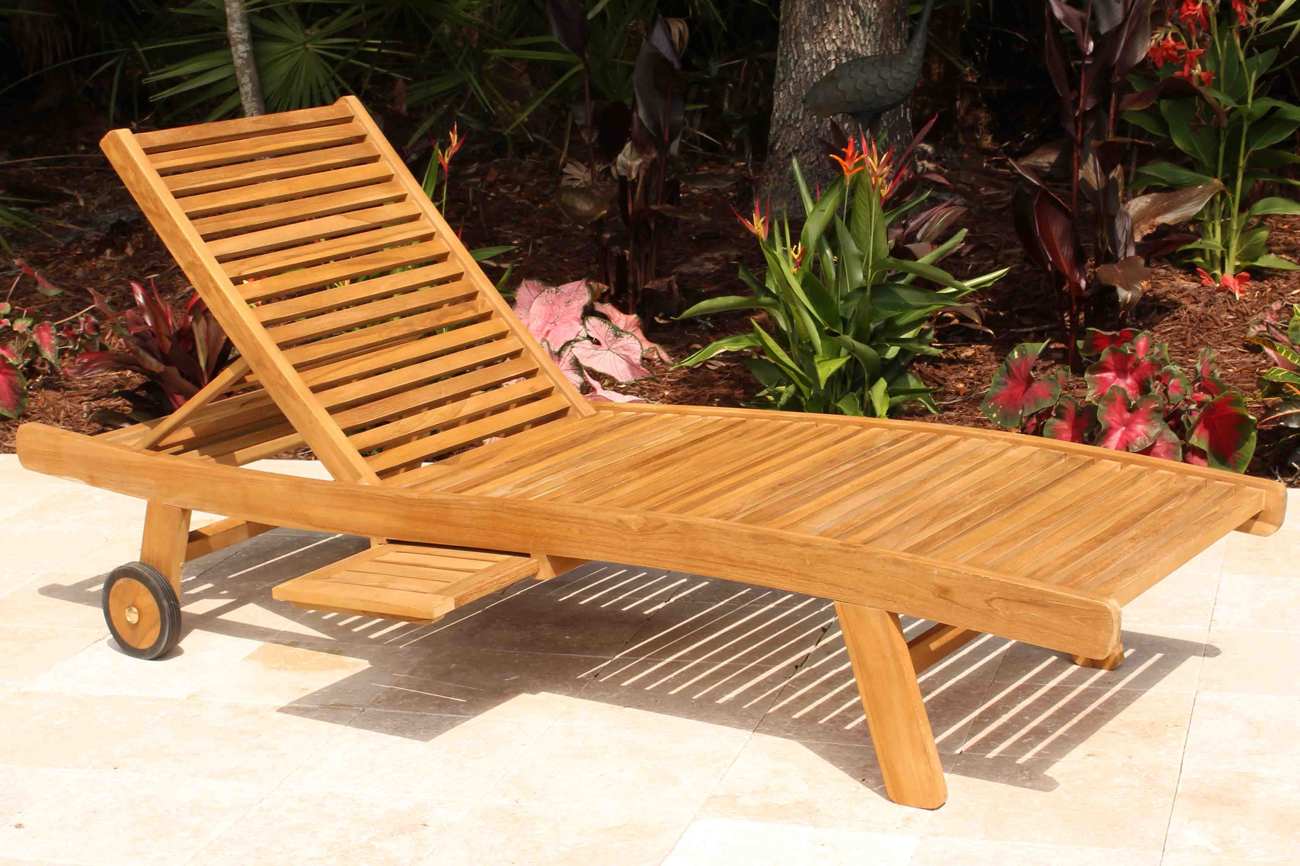 Well Known Teak Chaise Lounge Used — Teak Furnitures : Outdoor Teak Lounge Intended For Hardwood Chaise Lounge Chairs (View 14 of 15)