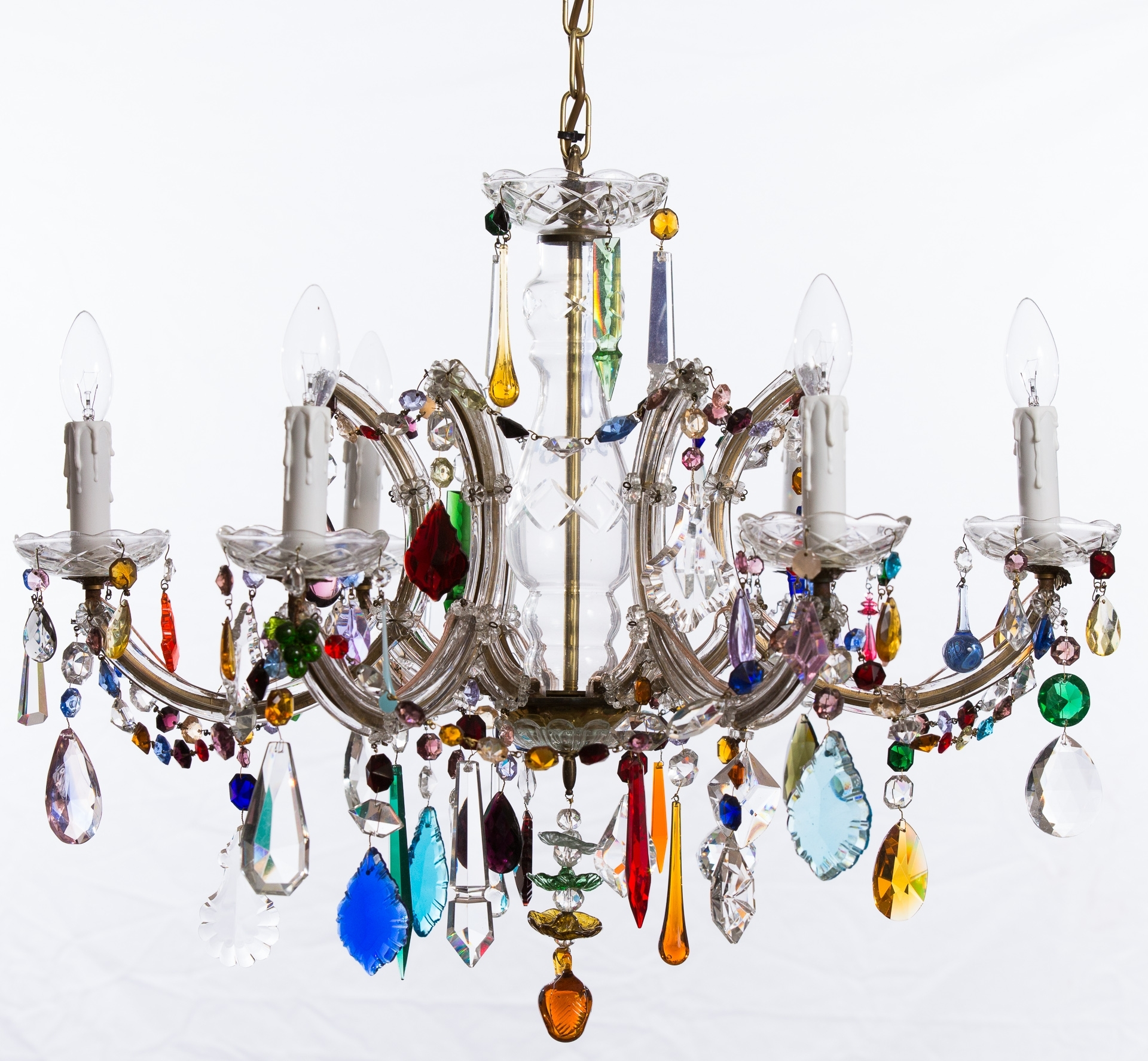 Well Known The Vintage Chandelier Companymulti Coloured Archives – The Vintage Throughout Coloured Chandeliers (View 7 of 15)