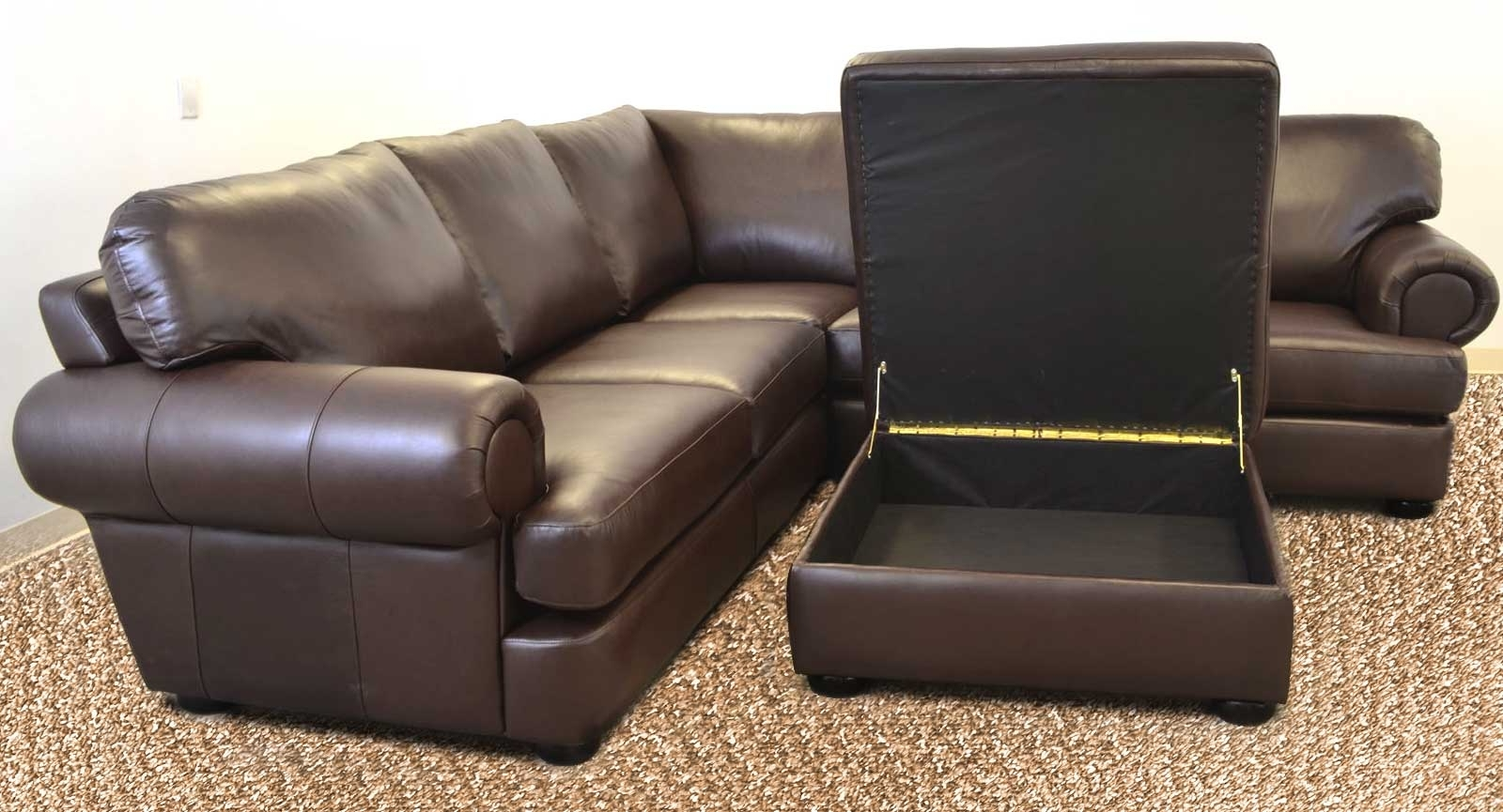 Well Known Titan Sofa ‹‹ The Leather Sofa Company Throughout Loveseats With Ottoman (View 14 of 15)
