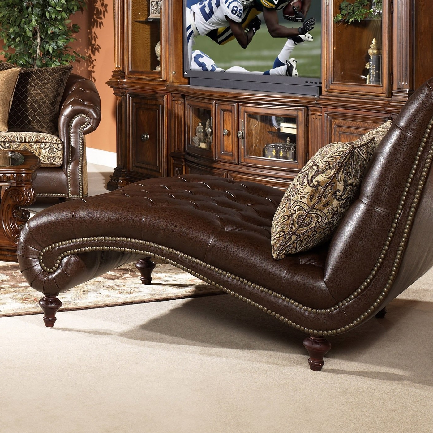 Well Known Top Leather Chaise Lounge Chair — Bed And Shower : Repair A In Leather Chaises (View 12 of 15)