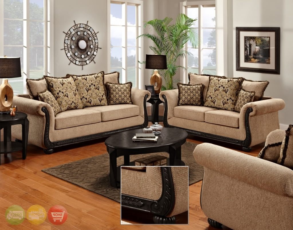 Well Known Traditional Living Room Furniture, Living Room Sets And Living With Regard To Traditional Sofas And Chairs (View 9 of 15)