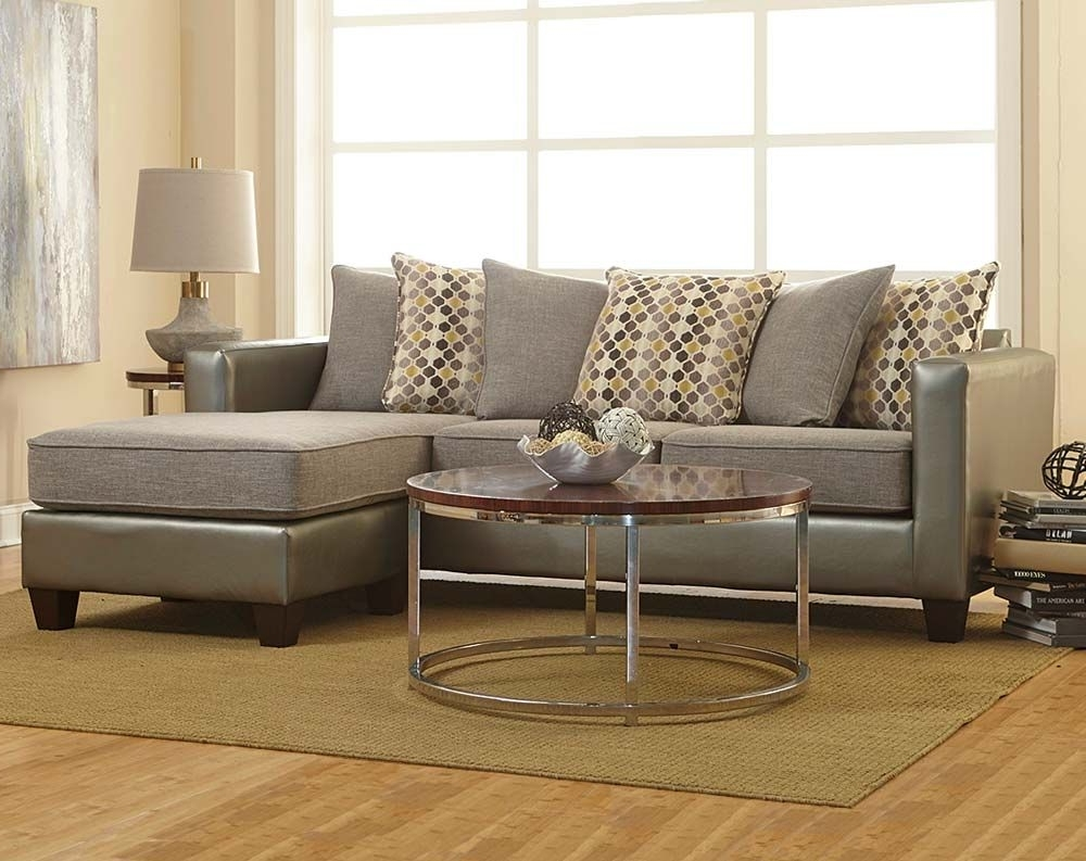 Well Known Two Toned In Shades Of Gray, The Quatro Canary 2 Piece Sectional Within Rooms To Go Sectional Sofas (View 6 of 15)