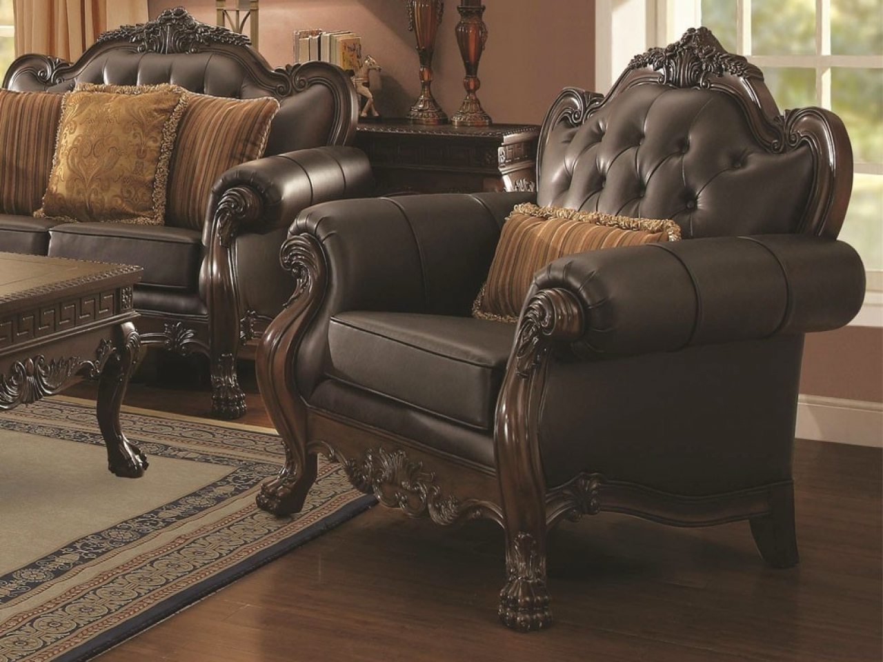 Well Known Victorian Leather Sofas Inside Living Room : Victorian Leather Sofa Leather Couches For Sale L (View 7 of 15)