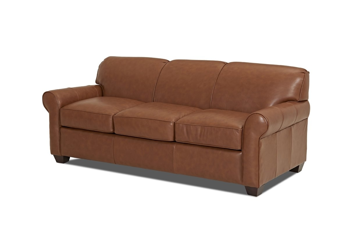 Well Known Wayfair Custom Upholstery™ Jennifer Leather Sofa & Reviews (View 11 of 15)
