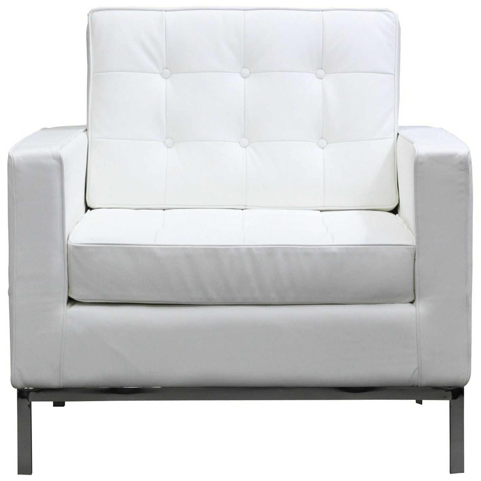 Well Known White Sofa Chairs Intended For Bateman Leather Armchair (View 1 of 15)