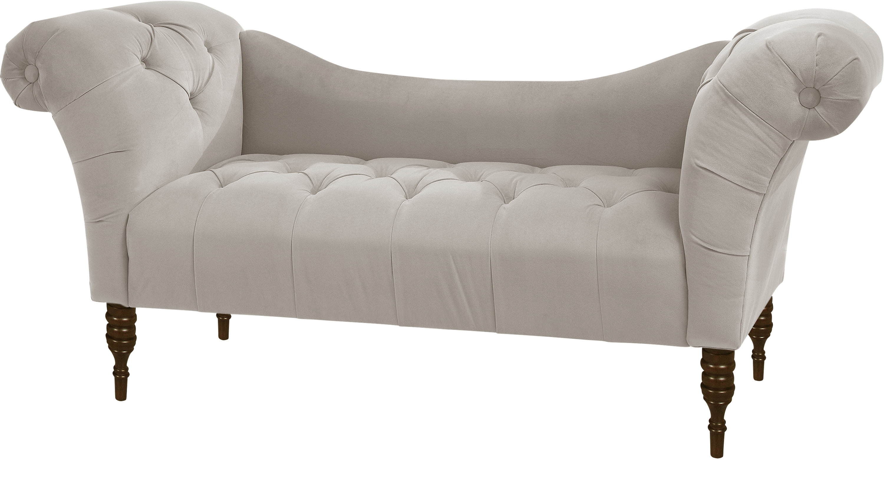 Well Known Whitmere Light Gray Chaise Bench – Transitional With Regard To Chaise Benchs (View 1 of 15)