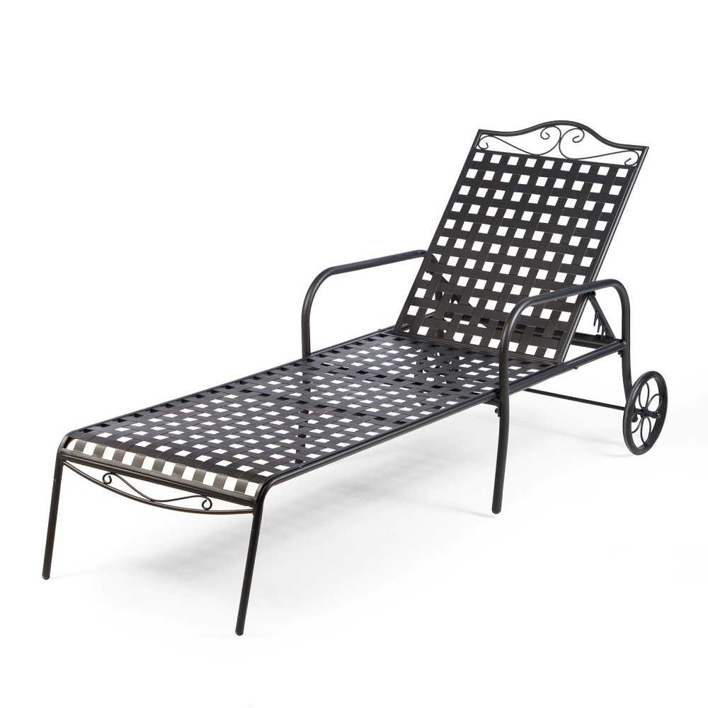 Well Known Wrought Iron Chaise Lounge (View 7 of 15)