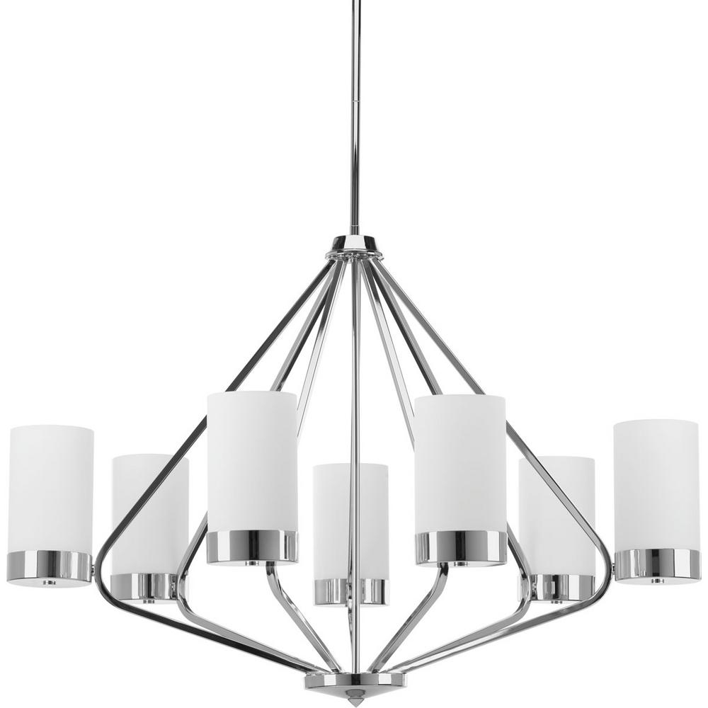 Well Liked 7 Light Chandeliers Regarding Progress Lighting Elevate Collection 7  Light Polished Chrome (View 14 of 15)