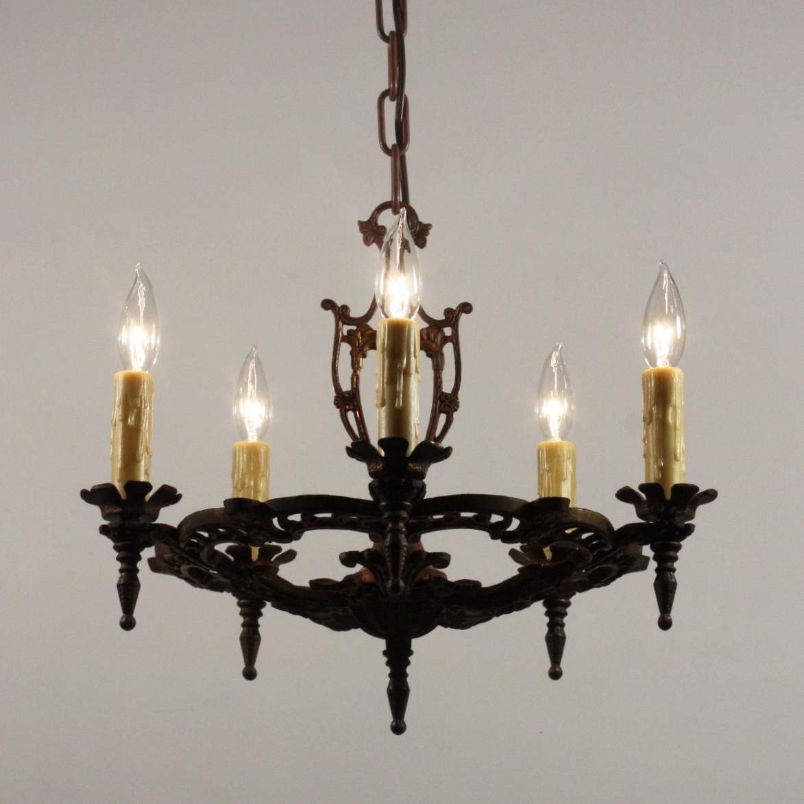 Well Liked Antique Chandelier In Cast Iron, Antique Lighting – Preservation Inside Cast Iron Antique Chandelier (View 12 of 15)