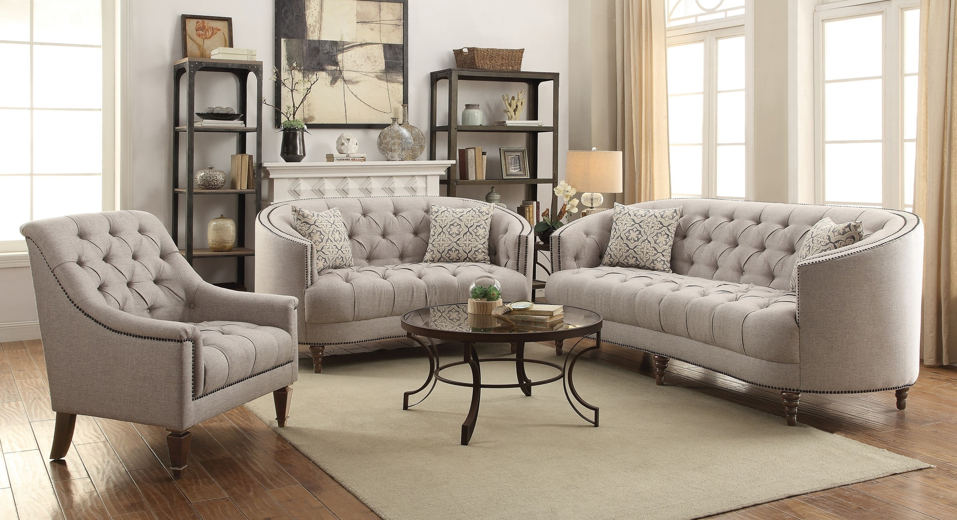 Well Liked Avonlea Sofa And Chair Set – 505641 With Regard To C Shaped Sofas (View 5 of 15)