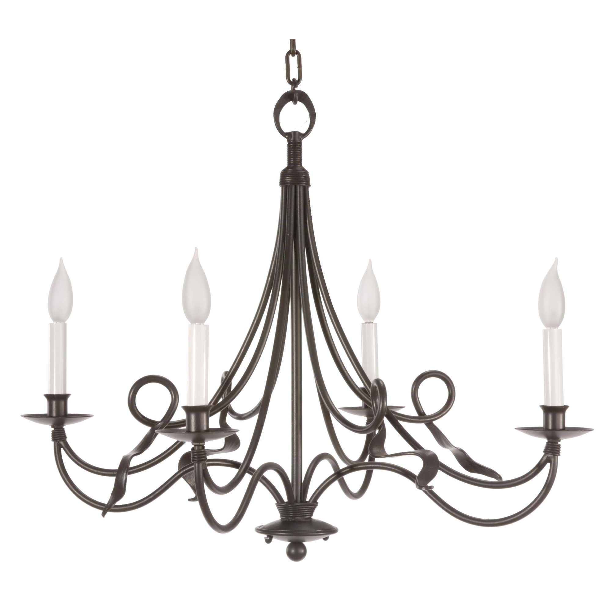Well Liked Black Color Rustic Cast Iron Chandeliers With Candle Holder For With Regard To Cast Iron Chandelier (View 14 of 15)
