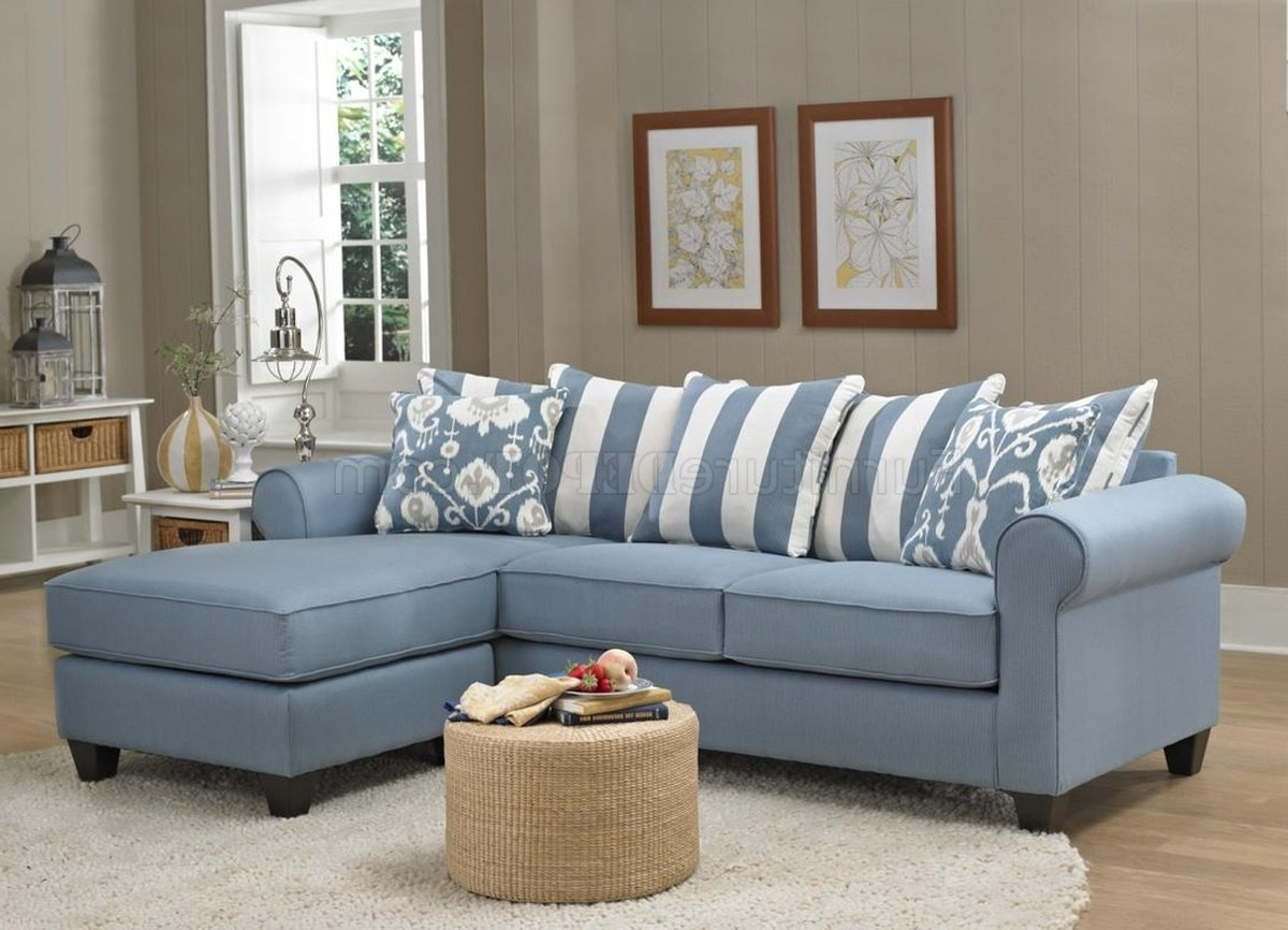 Well Liked Blue Sofa Chairs Intended For 347710 Ivy Sofa Chaise In Light Blue Fabricchelsea (View 14 of 15)