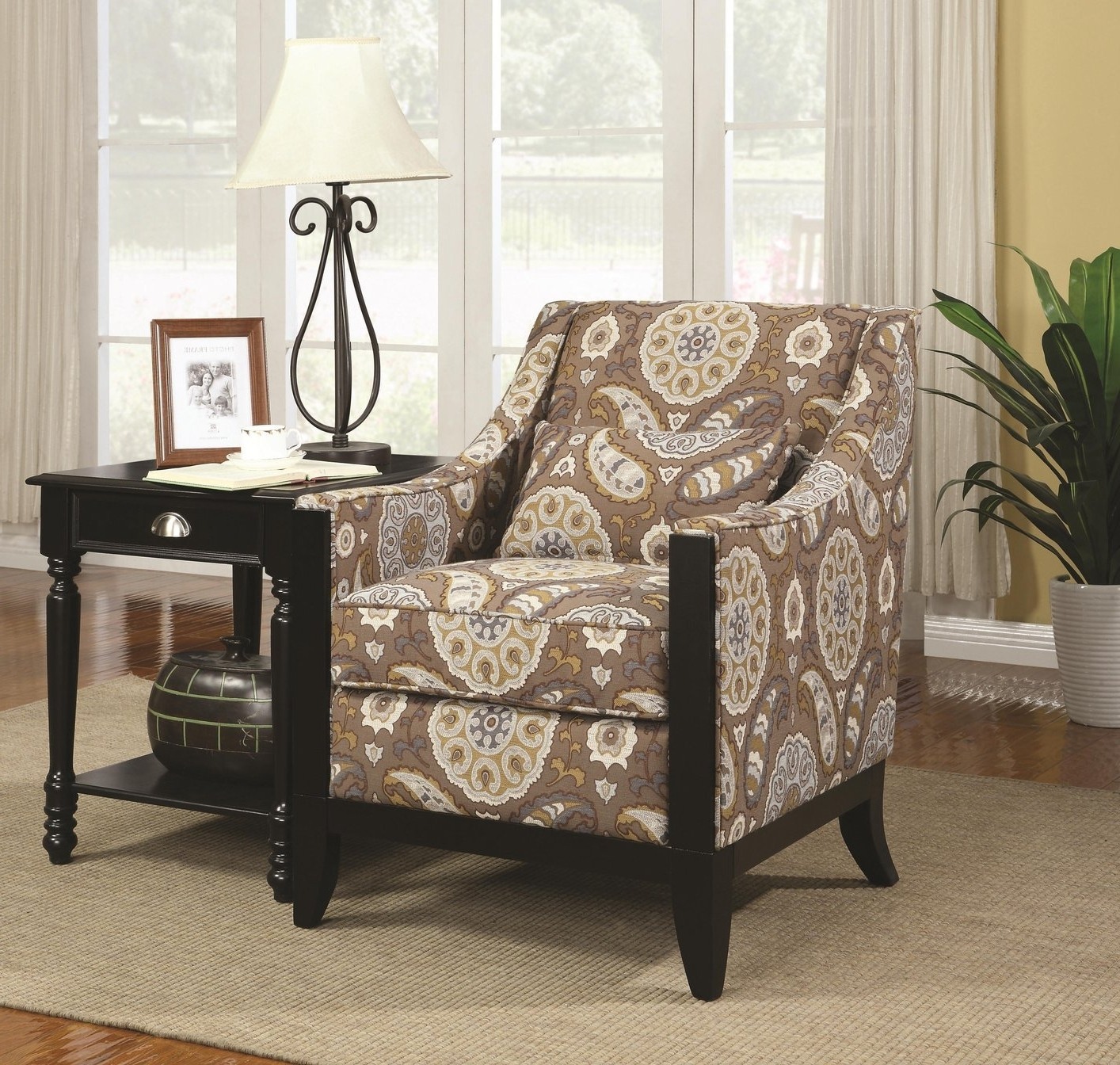 Well Liked Brown Fabric Accent Chair – Steal A Sofa Furniture Outlet Los With Accent Sofa Chairs (View 13 of 15)