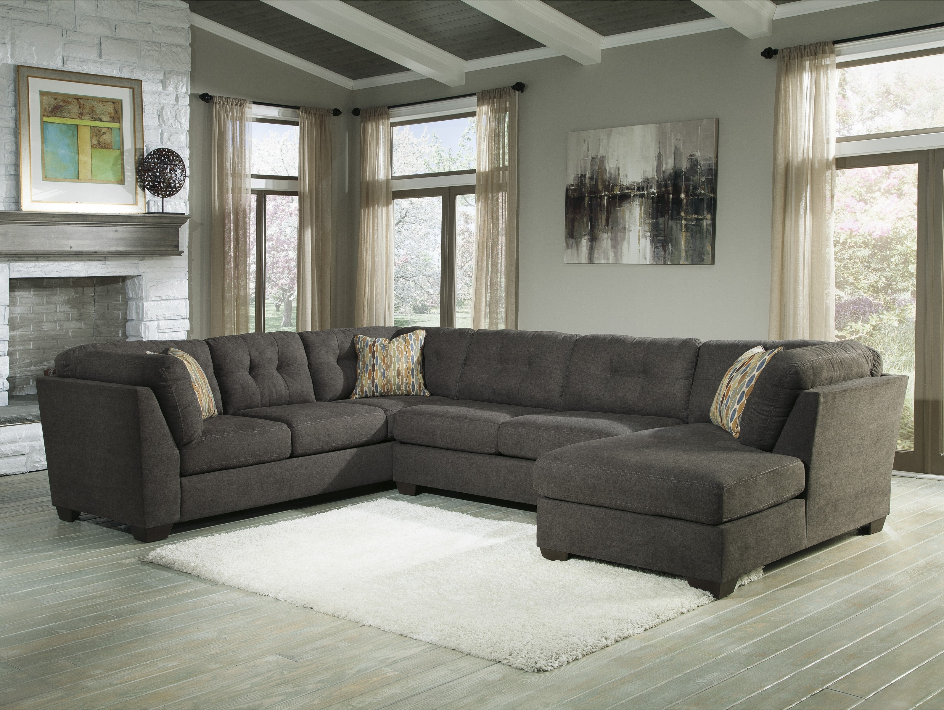 Well Liked Buy Delta City Sectional Sofa And Armless Loveseat With Laf Corner In Corner Chaises (View 14 of 15)