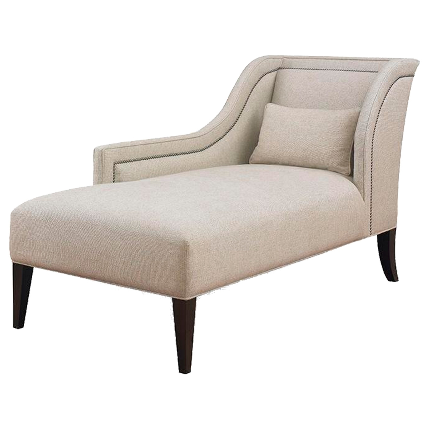 Well Liked Buy Pasadena One Arm Chaisekravet – Made To Order Designer For Beige Chaise Lounges (View 15 of 15)