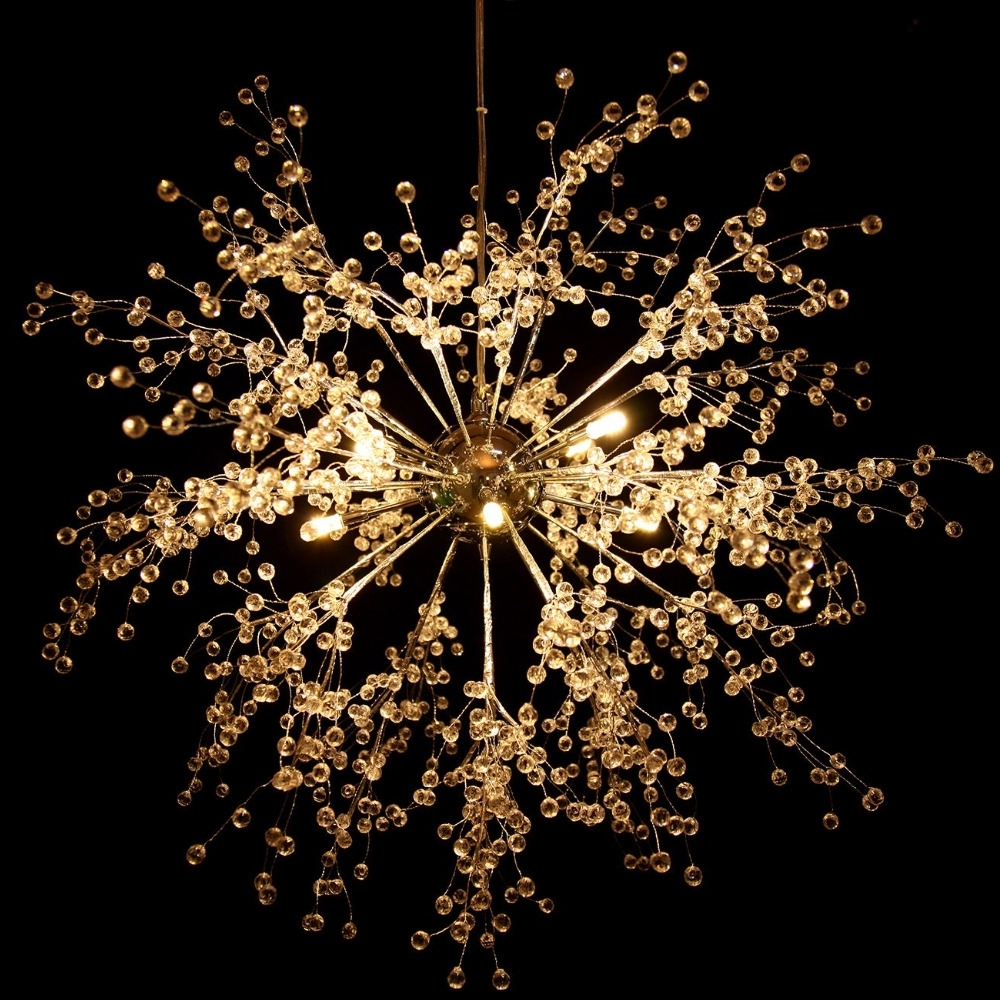 Well Liked Chandelier For Restaurant Regarding Us Shipping! Modern Dandelion Led Chandelier Fireworks Pendant Lamp (View 14 of 15)