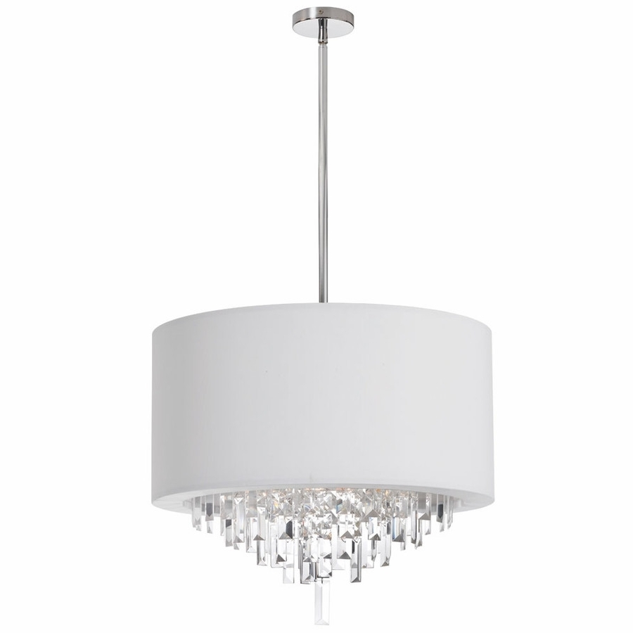 Well Liked Chandelier With Shades And Crystals With Regard To Chandelier With Drum Shade – Espan (View 13 of 15)