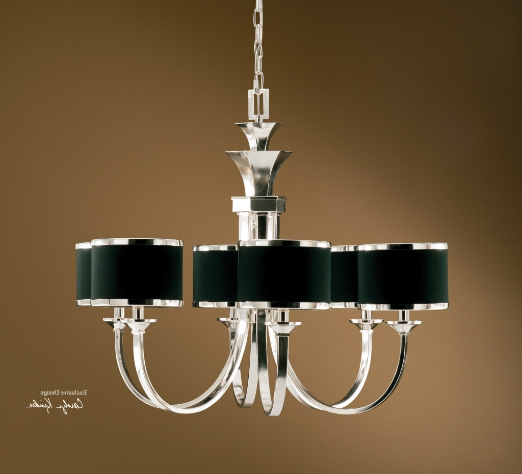 Well Liked Chandeliers With Black Shades Within Tuxedo 6 Light Black Shade Chandelier (View 1 of 15)