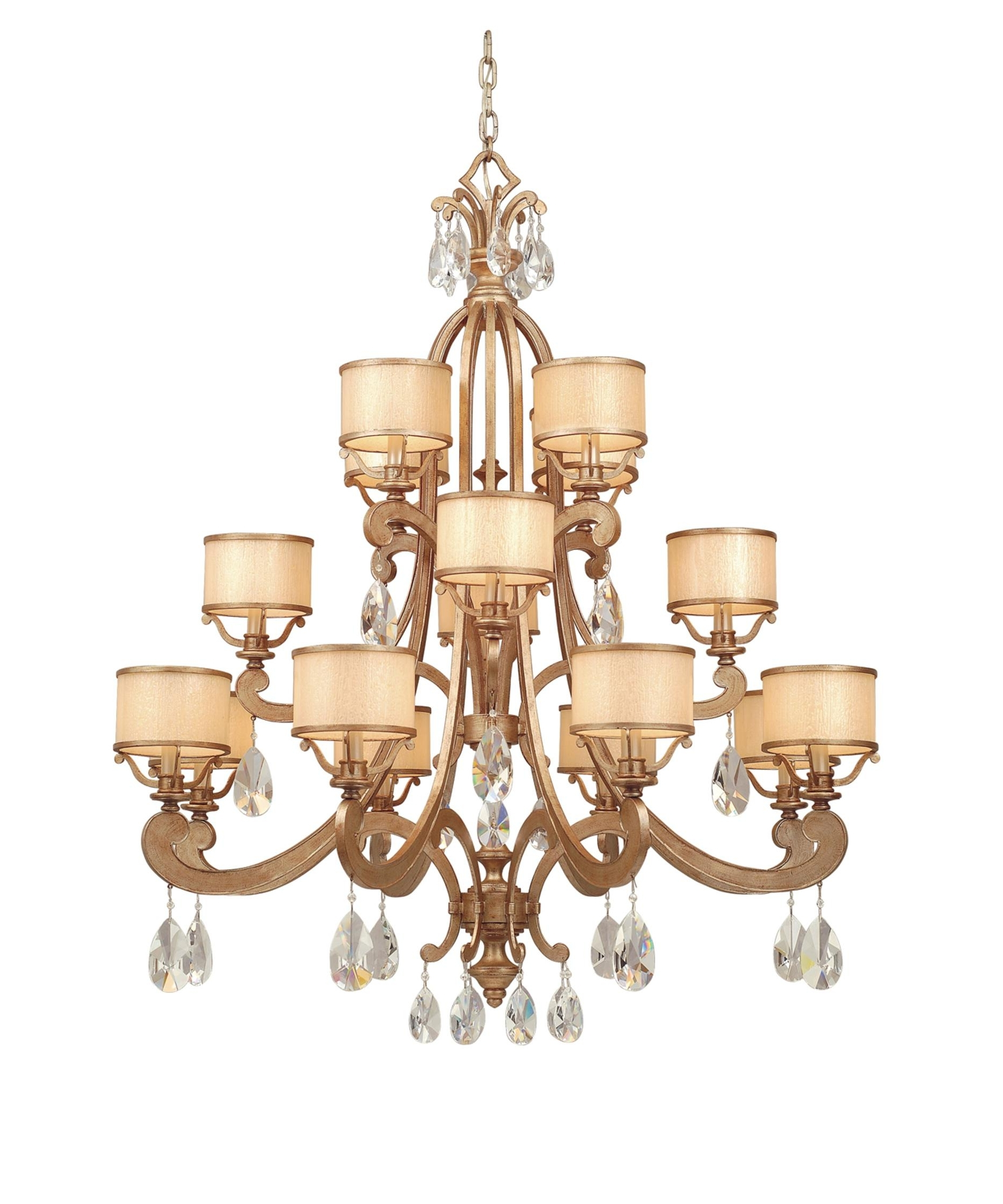 Well Liked Cream Crystal Chandelier For Corbett Lighting Ro 016 Roma 43 Inch Wide 16 Light Chandelier (View 15 of 15)