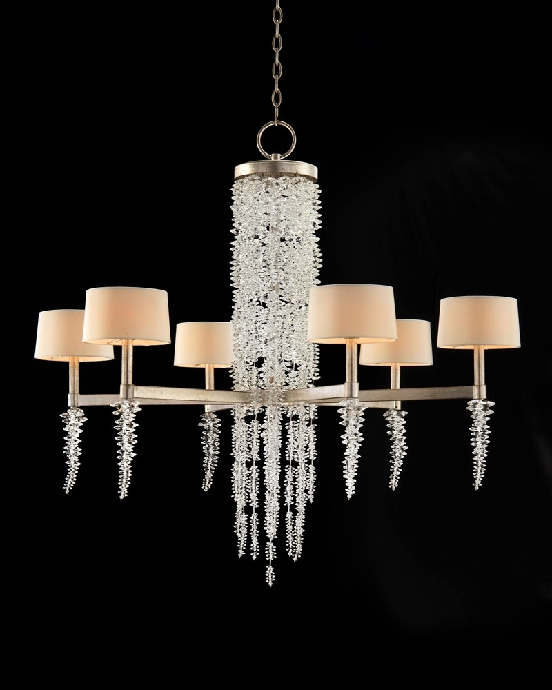 Well Liked Crystal Waterfall Chandelier Intended For Cascading Crystal Waterfall Six Light Chandelier – Chandeliers (View 15 of 15)