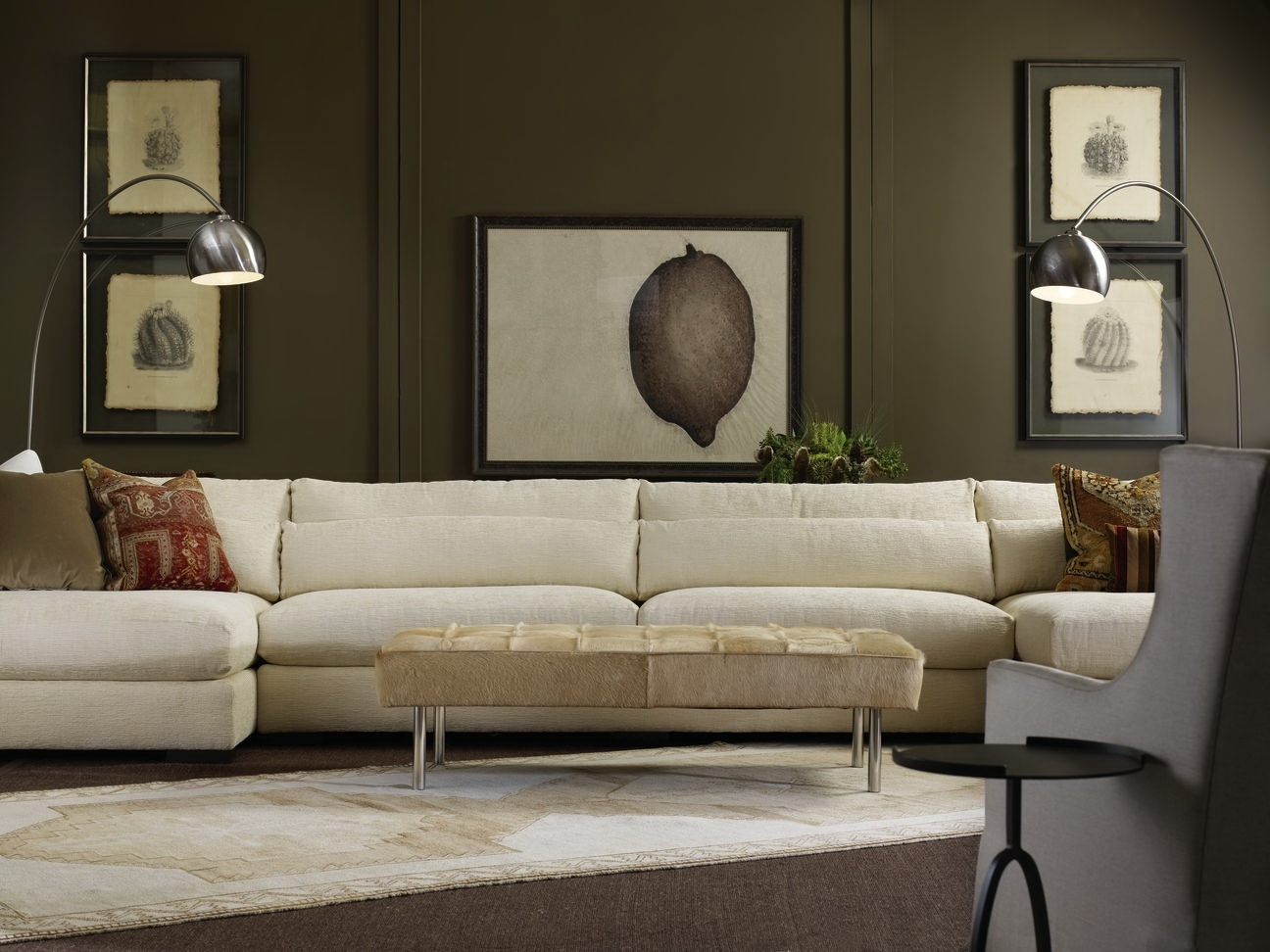Well Liked Down Feather Sectional Sofas For Furniture: Nice Interior Furniture Designrobert Michaels (View 8 of 15)