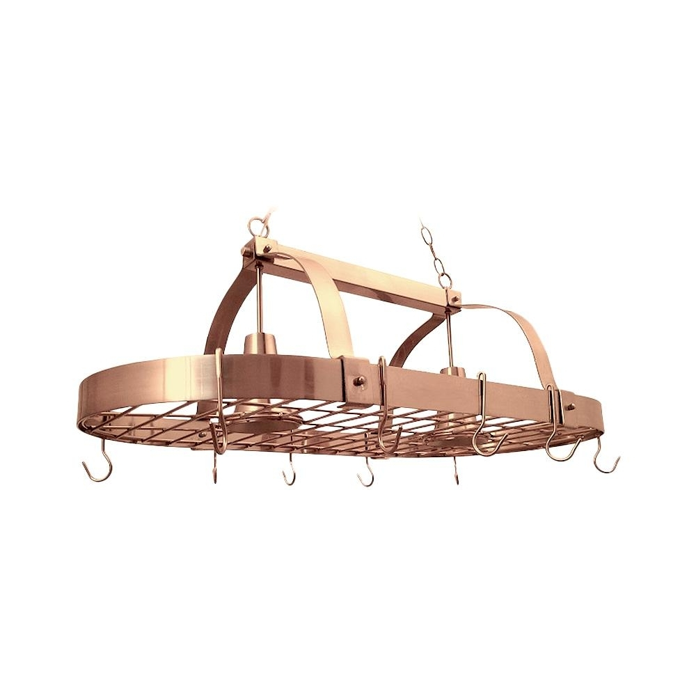 Well Liked Elegant Designs 2 Light Copper Kitchen Pot Rack Light With Hooks Within Copper Chandeliers (View 15 of 15)