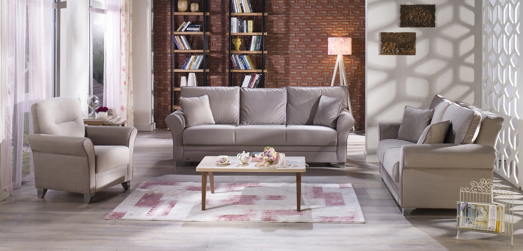 Well Liked Fabric Sofas Within Padova Paris Gray Sofa Padova Sunset Furniture Fabric Sofas At (View 10 of 15)
