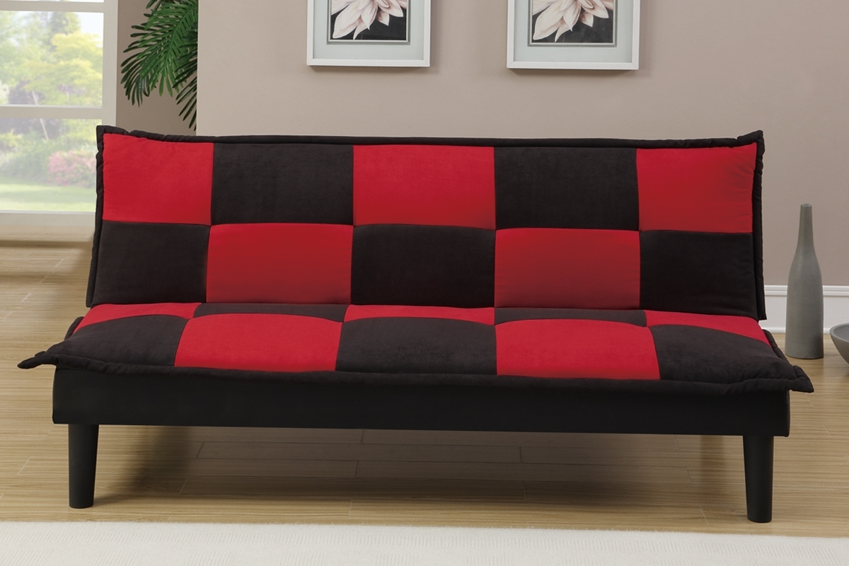 Well Liked Futons & Sofa Beds, Living Room – Red And Black Sofa Bed Within Red And Black Sofas (View 4 of 15)